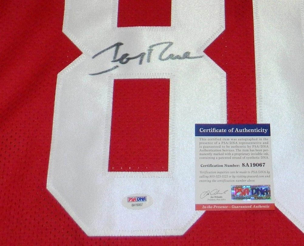 a0cb421516b ... Jerry Rice Autographed San Francisco 49Ers  80 Throwback Stat Jersey  Signed - PSA DNA ...