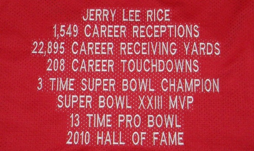 57efb24e550 ... Jerry Rice Autographed San Francisco 49Ers  80 Throwback Stat Jersey  Signed - PSA DNA
