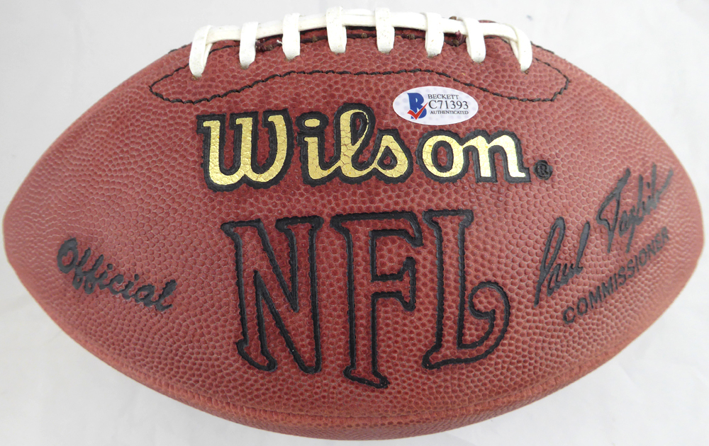 30db56b5ead Jerry Rice Autographed Signed Wilson NFL Leather Football San Francisco  49ers - Beckett Authentic. Loading Images...  448.99 Original