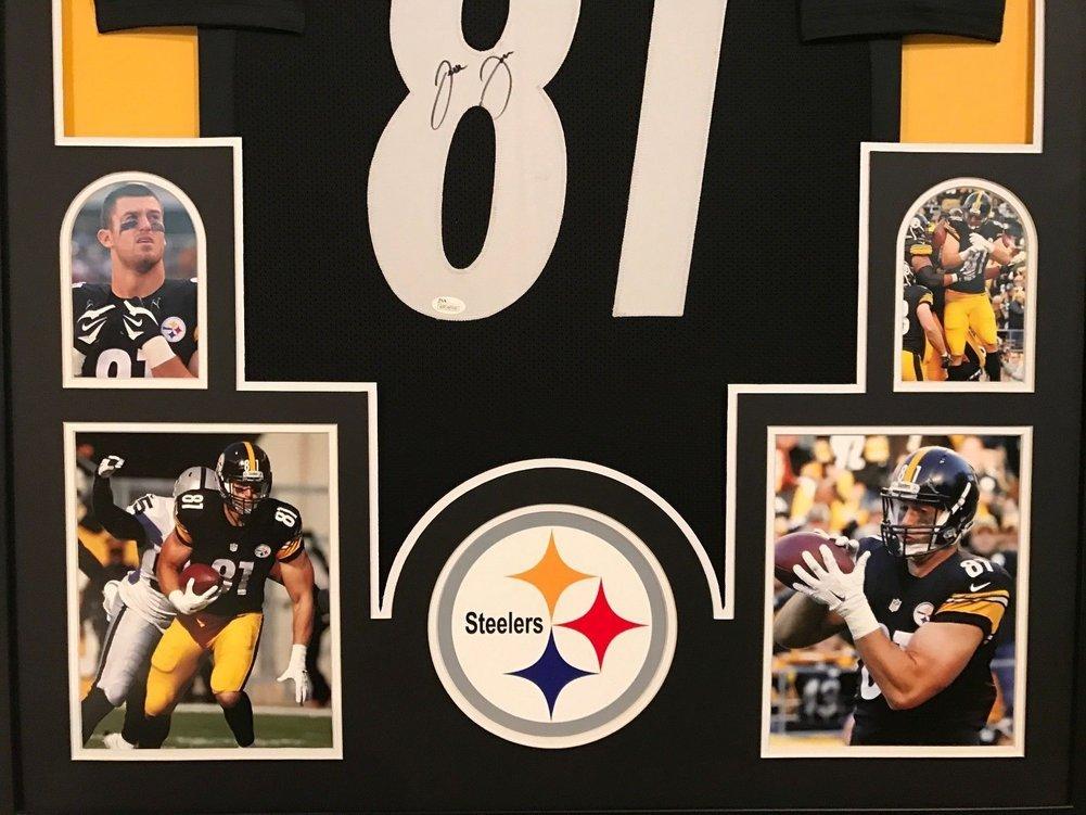 8b4bd5cb190 Jesse James Autographed Signed Custom Framed Pittsburgh Steelers Black  Jersey - JSA Authentic. Loading Images... $674.99 Price