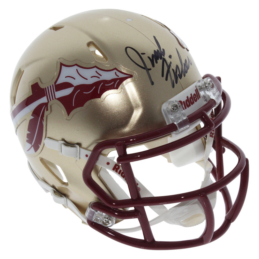 Jimbo Fisher Autographed Signed Florida State Seminoles Riddell Speed Mini Helmet - Certified Authentic Image a