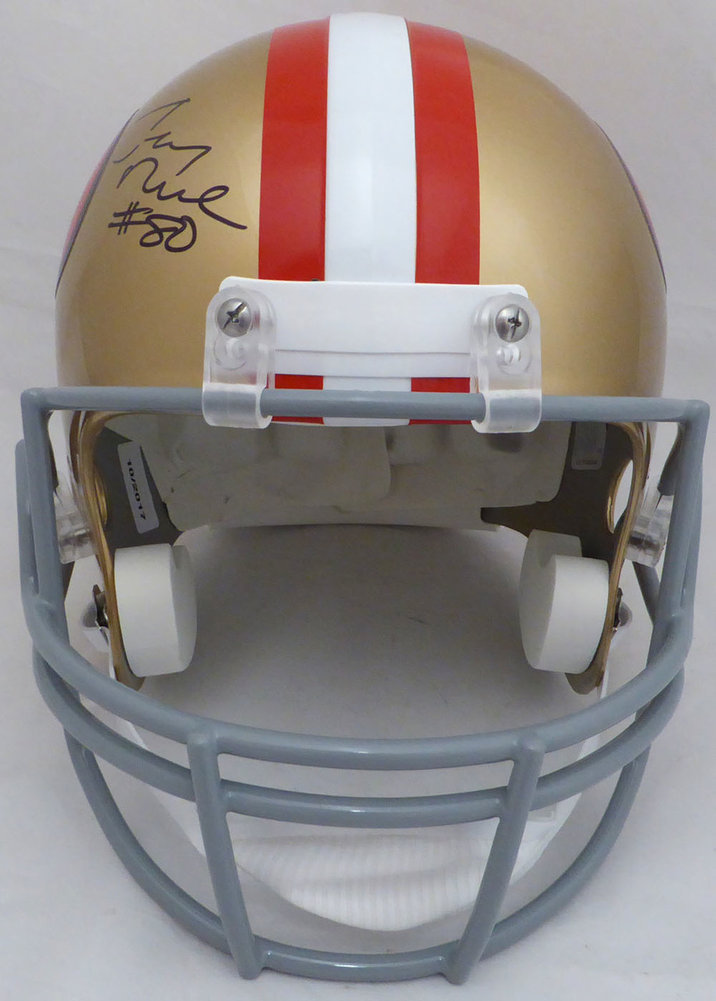 dc03bbe82 ... Jerry Rice Autographed Signed Auto San Francisco 49ers Full Size Replica  Helmet  80 - Beckett Certified. Loading Images...  971.99 Price