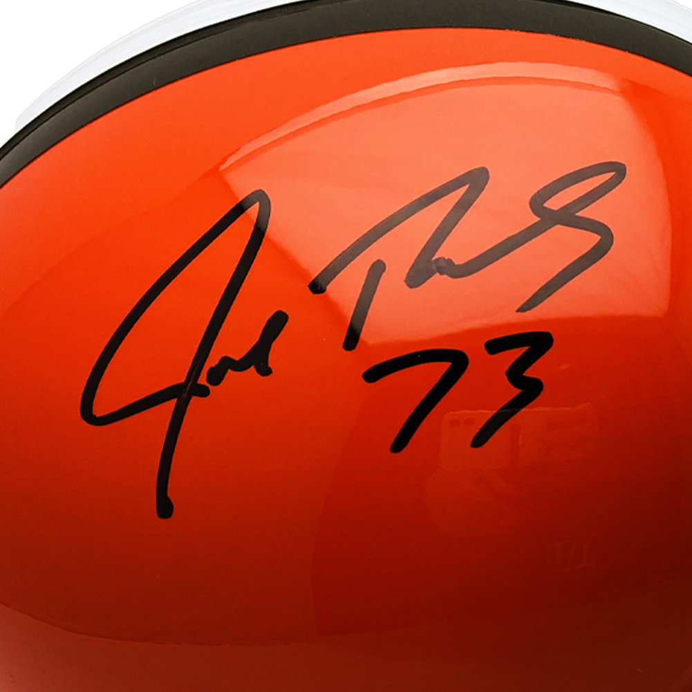 Joe Thomas Autographed Signed Cleveland Browns Riddell Replica Helmet  - JSA Authentic Image a