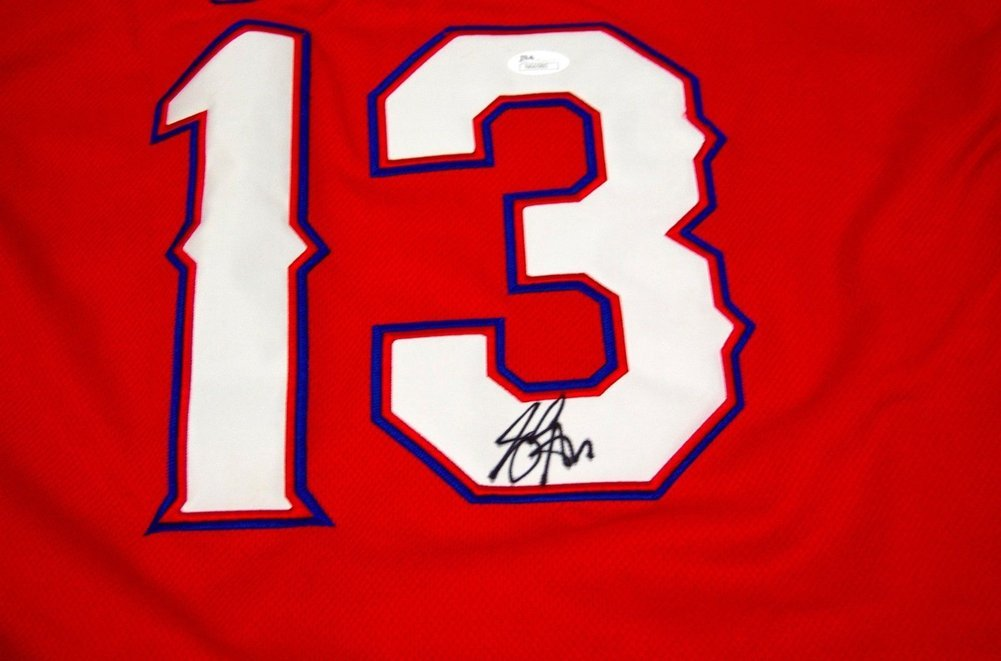 free shipping 6185e e5c0d Joey Gallo Texas Rangers Autographed Signed Red Jersey ...