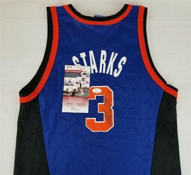 separation shoes 543fc fc955 John Starks Autographed Signed Memorabilia Champion New York ...