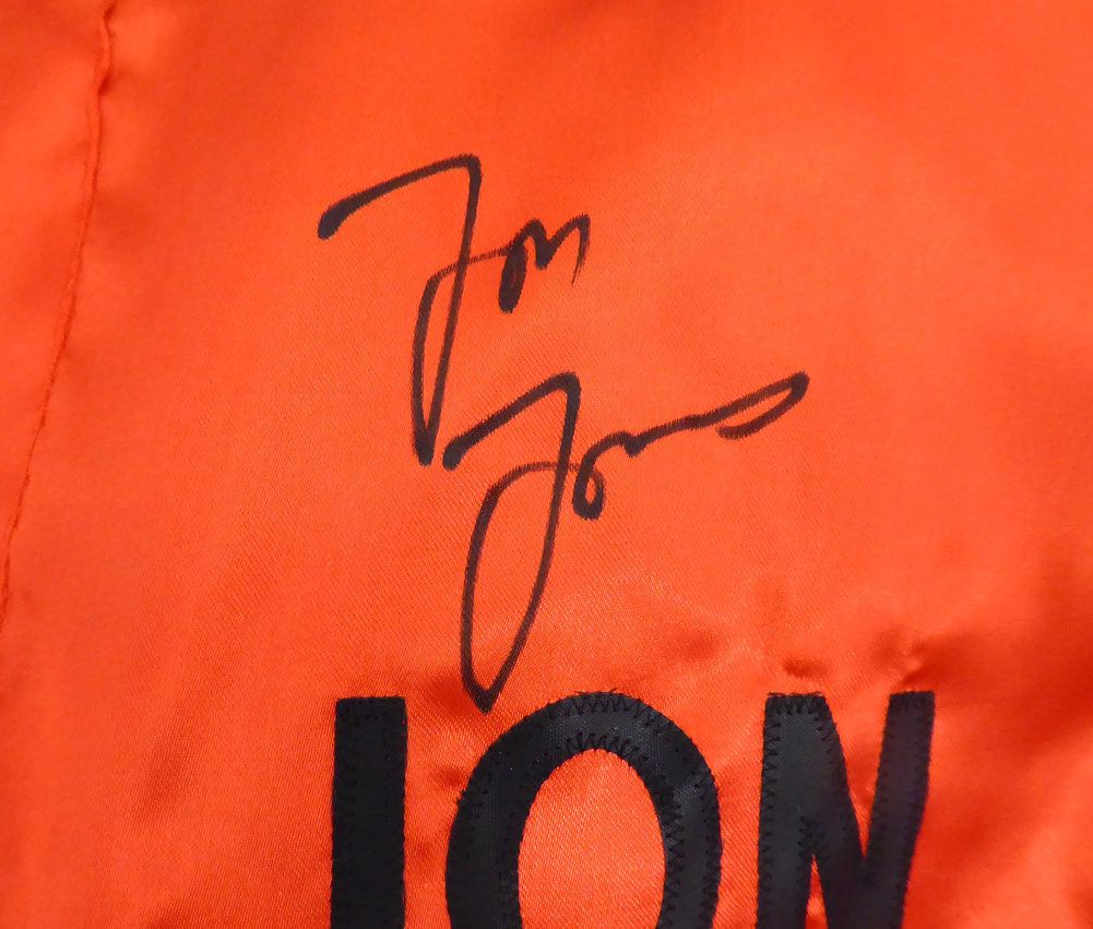 Jon Bones Jones Autographed Signed UFC Fighting Trunks Beckett BAS Stock #159215 Image a