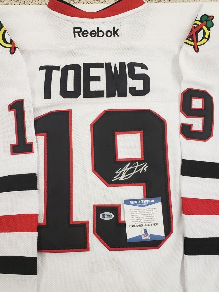 7a5b7d31498 Jonathan Toews Autographed Signed Chicago Blackhawks Jersey with COA  Beckett Authentic. Loading Images... $719.99 Price