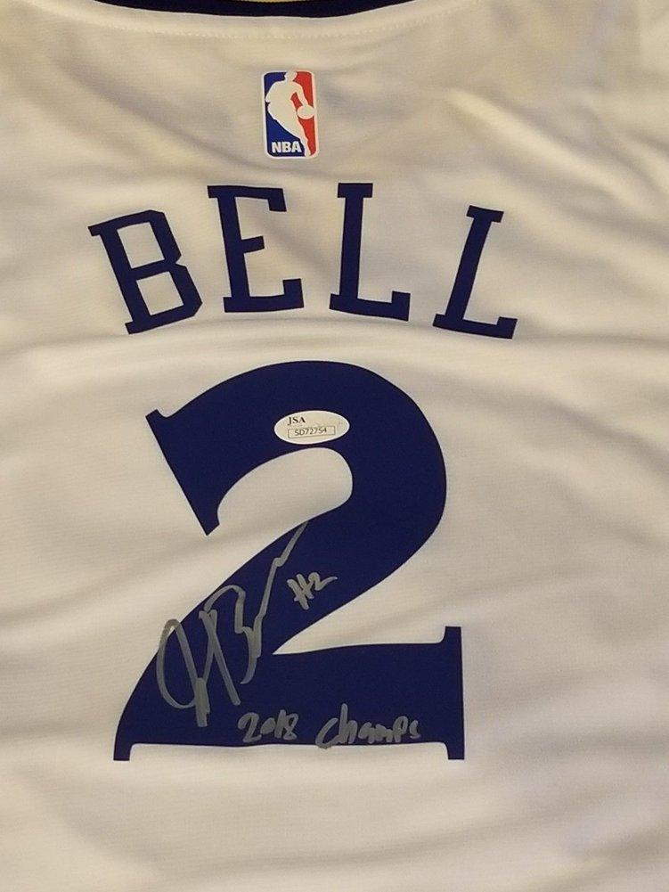 Jordan Bell Autographed Signed Fanatics Golden State Warriors Jersey