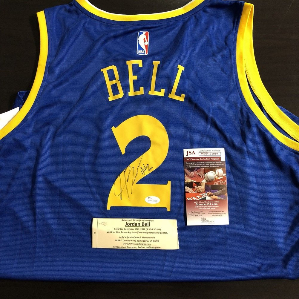 big sale 34211 6b763 Jordan Bell Autographed Signed Memorabilia Nba Licensed ...