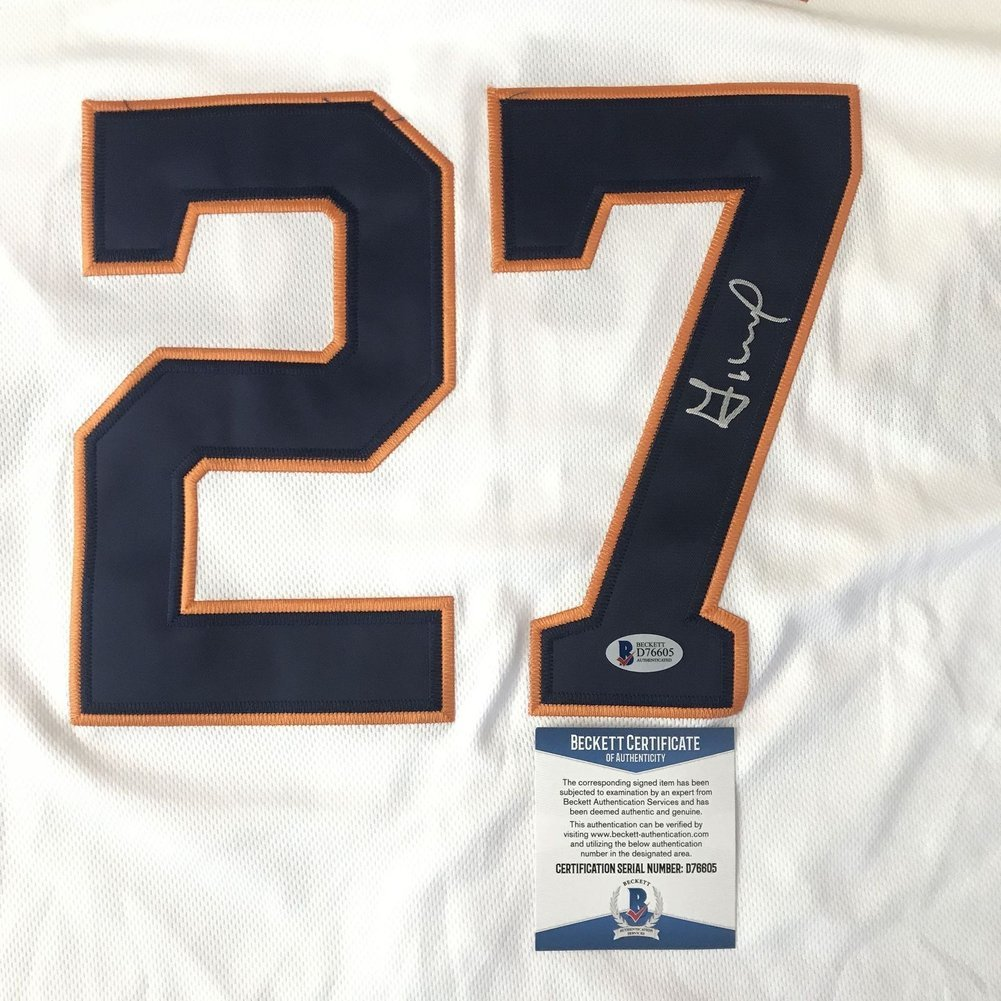 new styles aa056 a71ae Jose Altuve Autographed Signed Jersey (Size XL) Bas Beckett ...