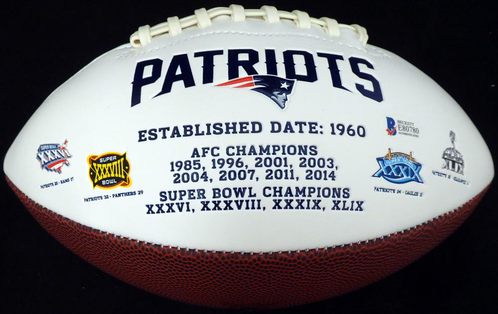 76c806ba Josh Gordon Autographed Signed New England Patriots White Logo Football  Memorabilia - Beckett Authentic. Loading Images... $204.99 Price
