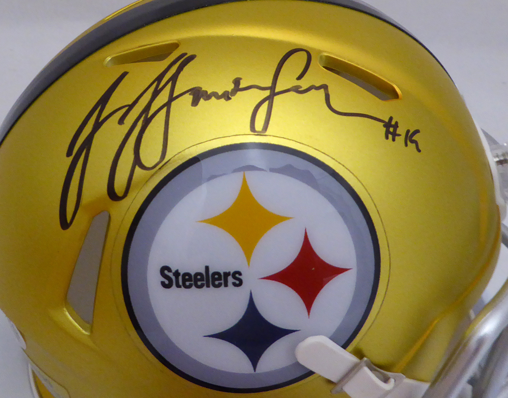 18e735419c0 JuJu Smith-Schuster Autographed Signed Pittsburgh Steelers Full Size Helmet  - Beckett Authentic. Loading Images... $399.99 Price