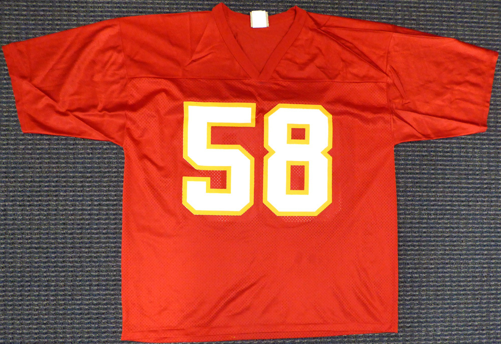 new product 1910d f5b64 Kansas City Chiefs Derrick Thomas Autographed Signed Jersey ...