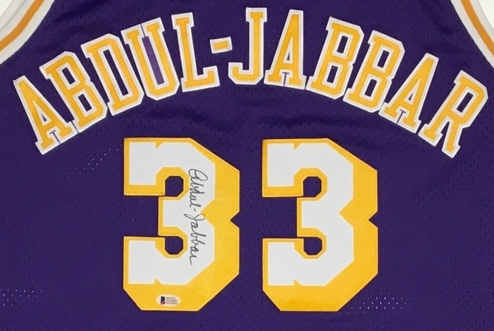96939839ae0 Kareem Abdul-Jabbar Autographed Signed Lakers Jersey With Beckett COA.  Loading Images... $752.99 Price