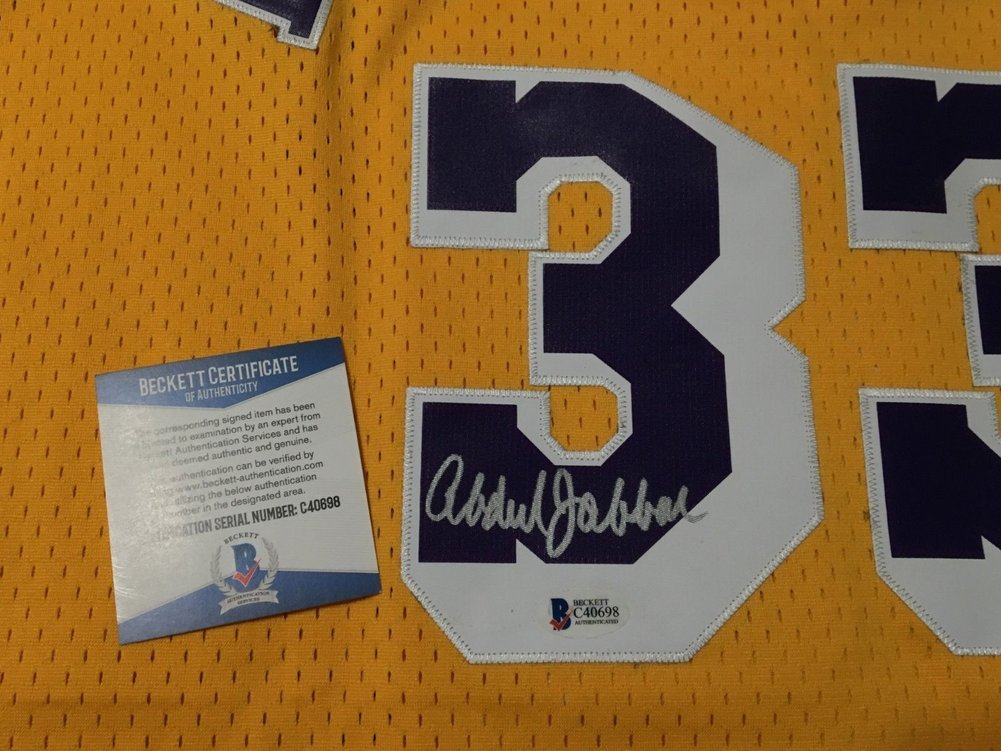 2e6ad790857 Kareem Abdul-Jabbar Autographed Signed Autograph Adidas Los Angeles Lakers  Basketball Jersey Beckett. Loading Images... $806.99 Price