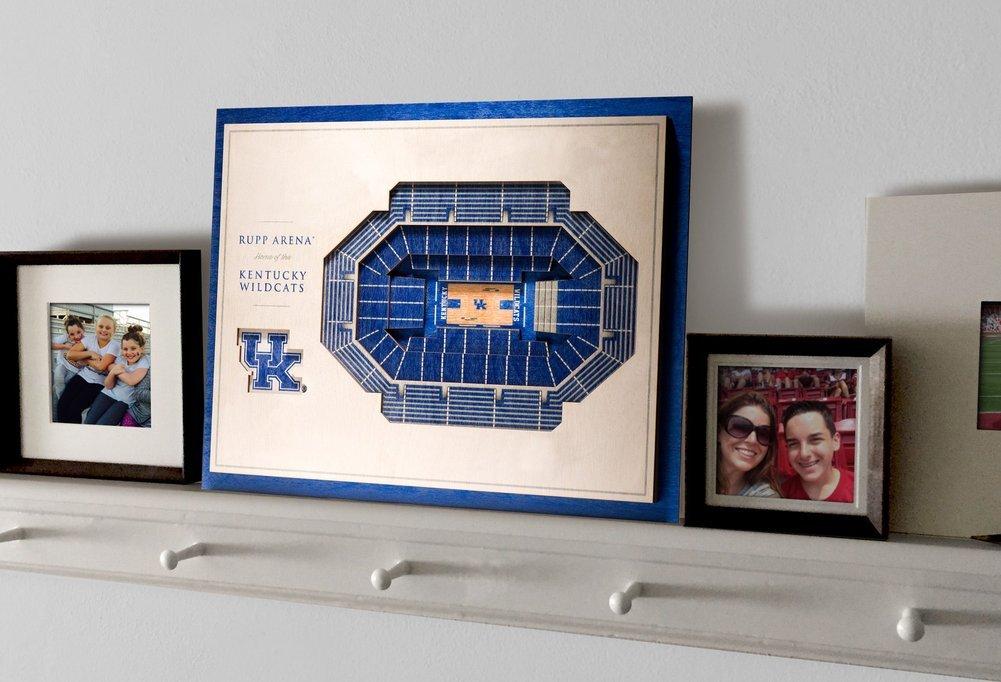 Kentucky Wildcats 5 Layer Wooden Replica Stadiumview 3d Wall Art