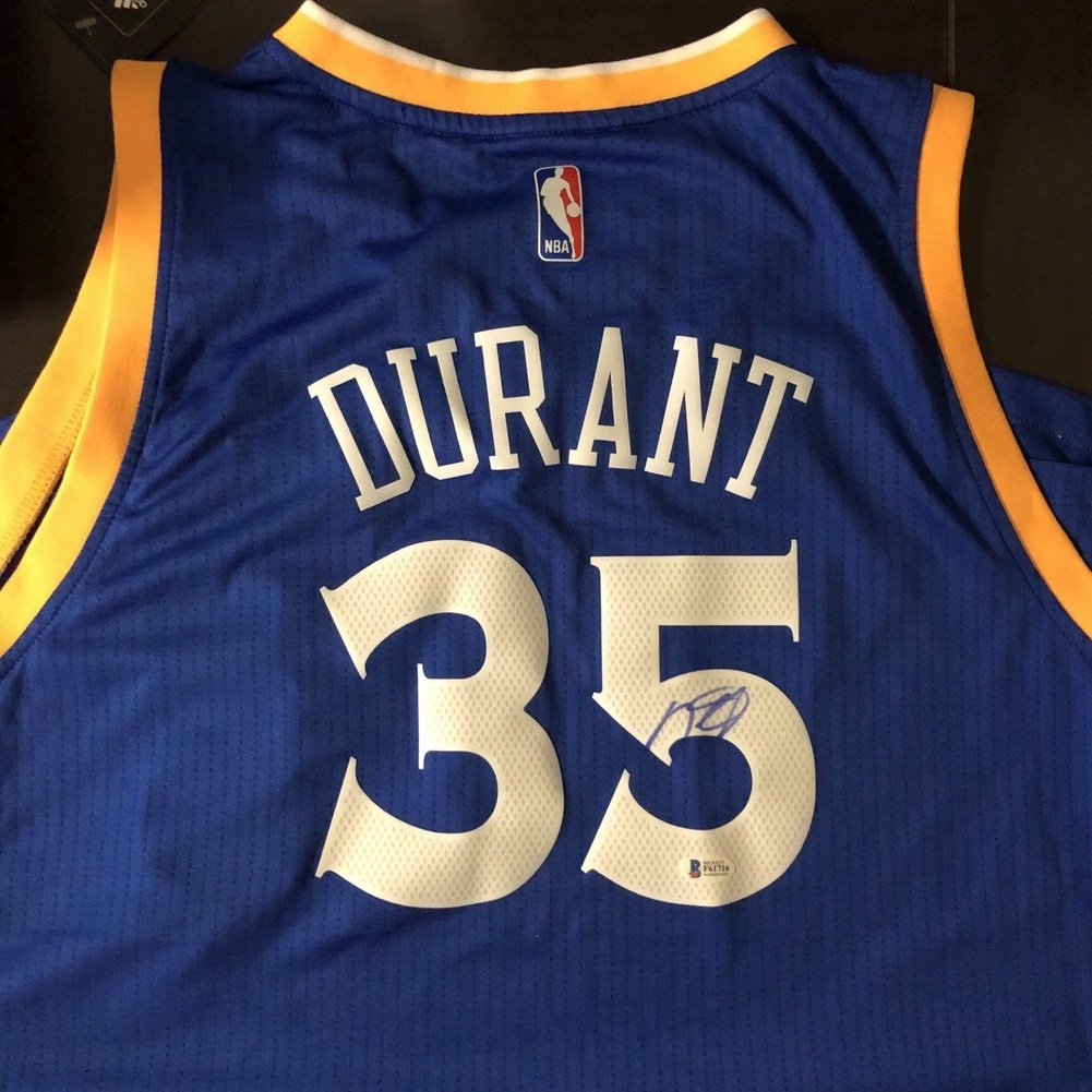 innovative design 36dee 6b67b Kevin Durant Autographed Signed Memorabilia Warriors ...