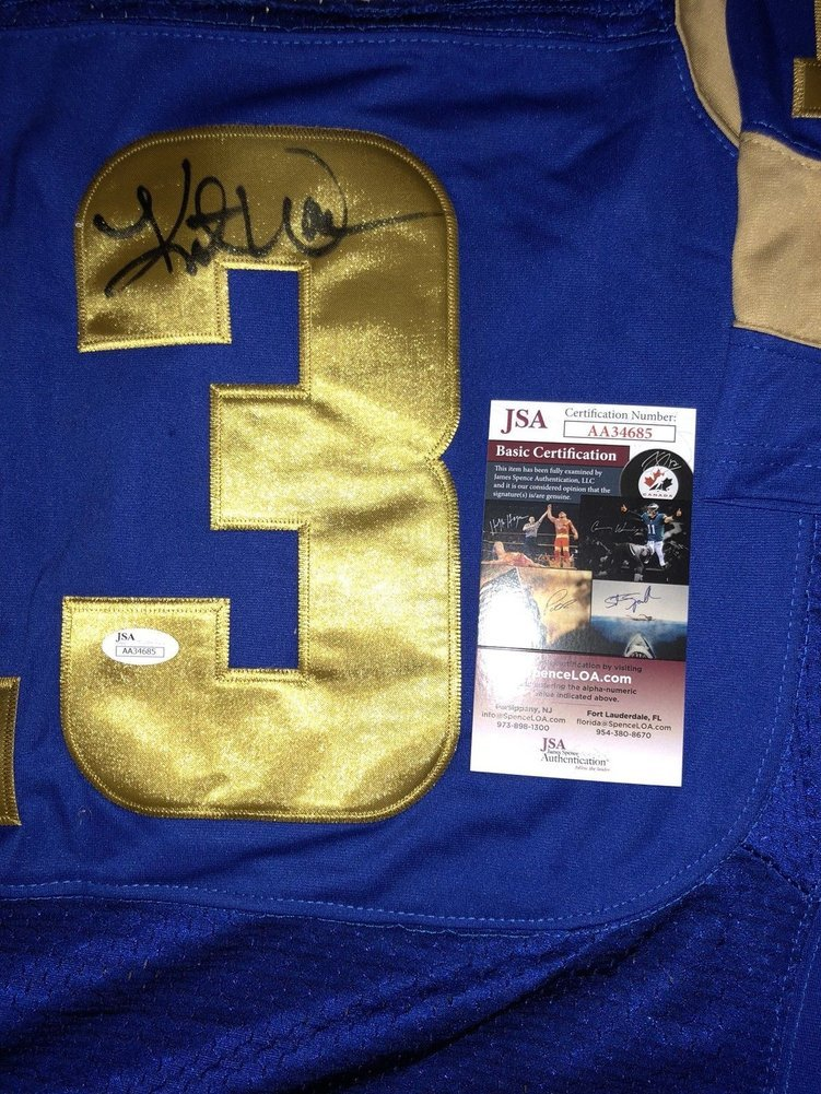 Kurt Warner Autographed Signed St Louis Rams NFL Jersey Los Angeles ... 35a53e292