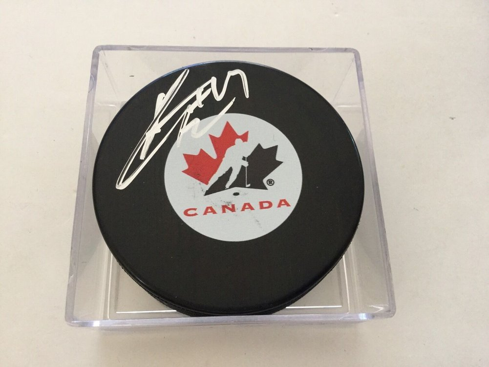 Kyle Turris Autographed Signed Team Canada Hockey Puck PSA DNA COA Autographed A Image a