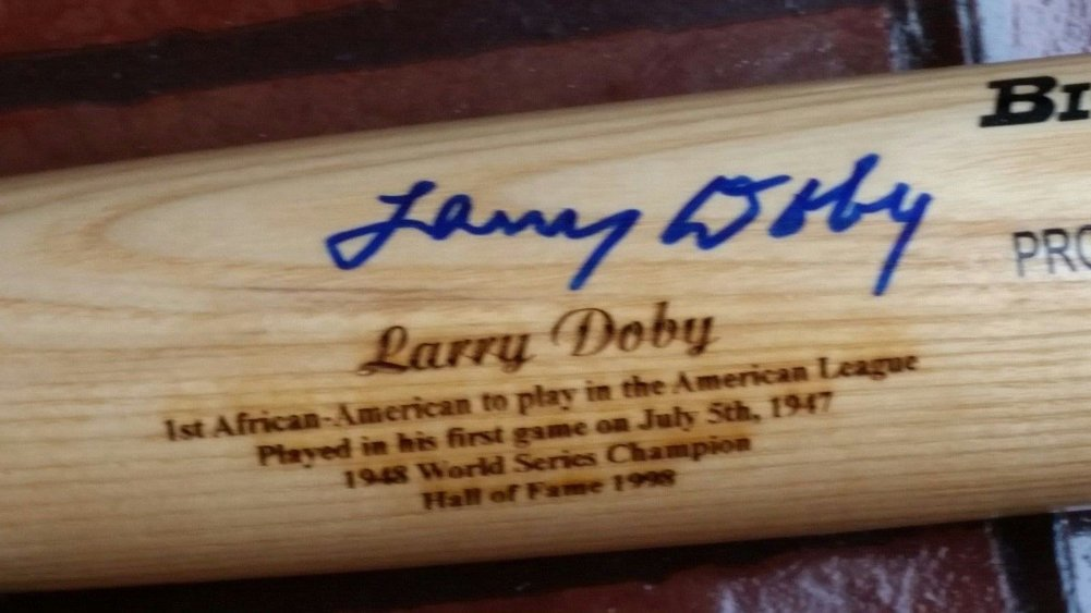 Larry Doby Autographed Signed Baseball Bat Limited #47 Hall Of Famer 1998 Steiner Sports COA Image a