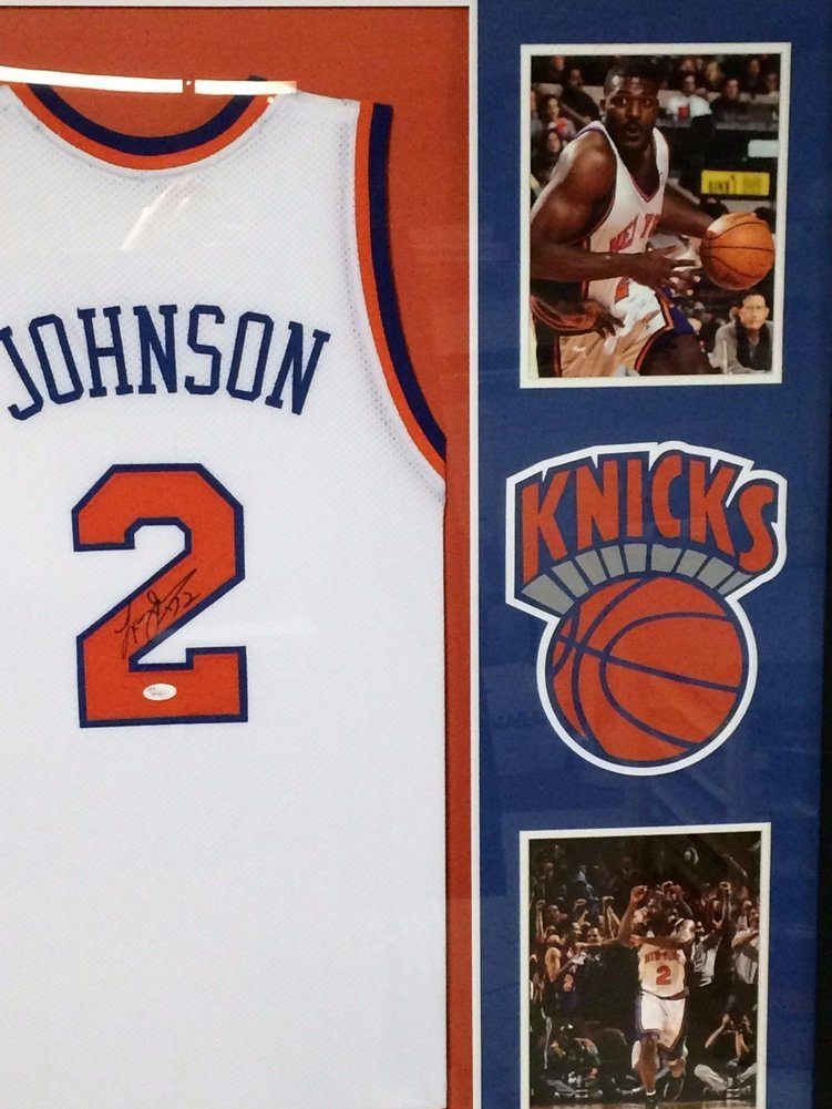 ... discount code for larry johnson autographed signed custom framed new  york knicks jersey jsa authentic. 863c47427