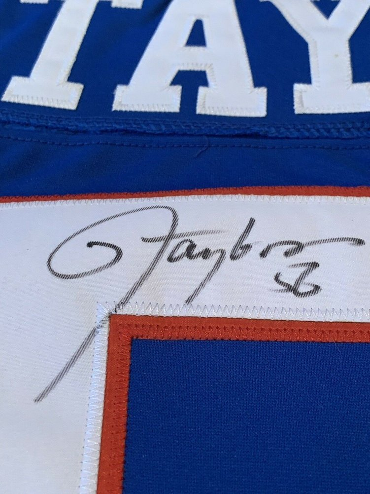 Lawrence Taylor Autographed Signed Jersey Memorabilia JSA Sticker  free shipping