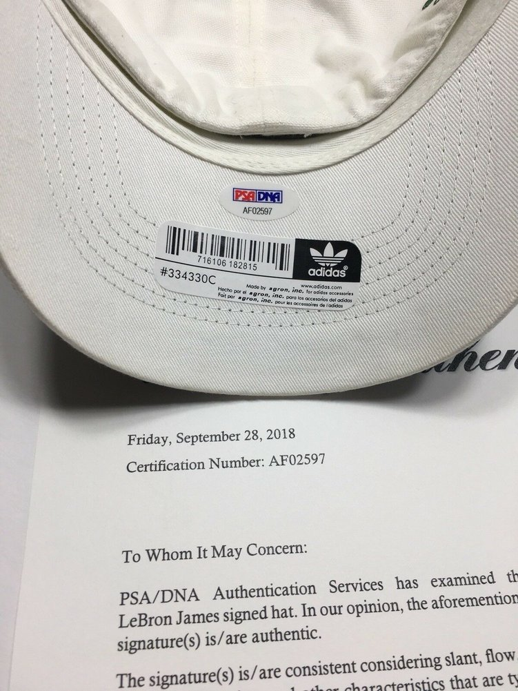Lebron James Autographed Signed Adidas High School Hat PSA/DNA St Vincent St Mary Lakers Image a