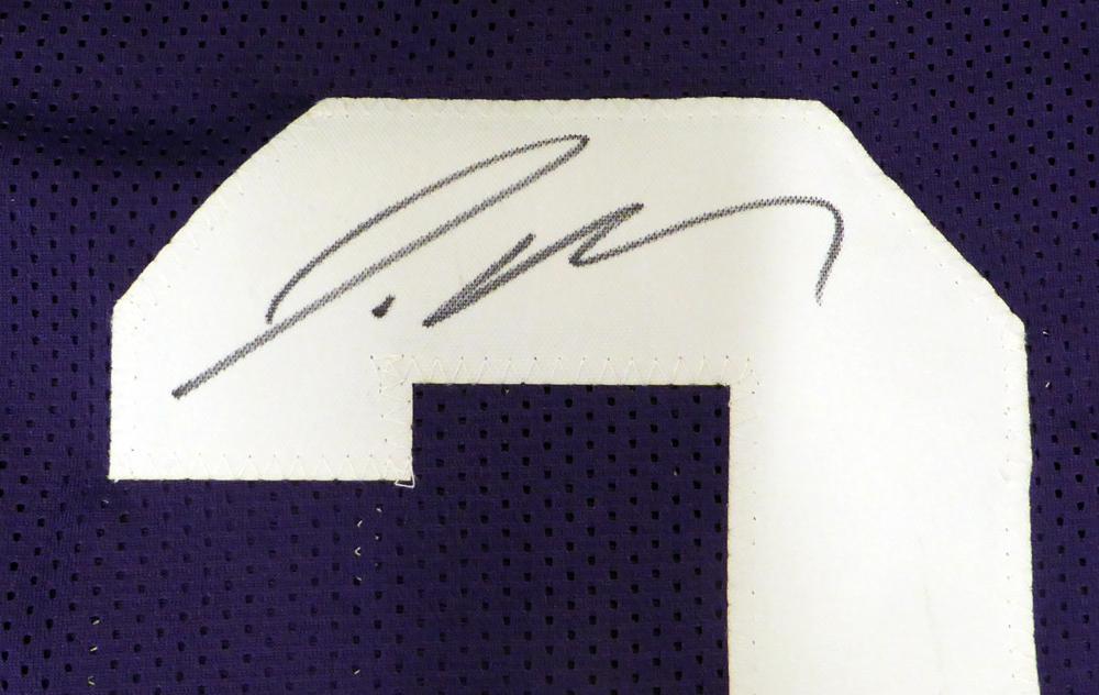 new styles 0075f 6cd55 LSU Tigers Jamal Adams Autographed Signed Auto Purple Jersey ...