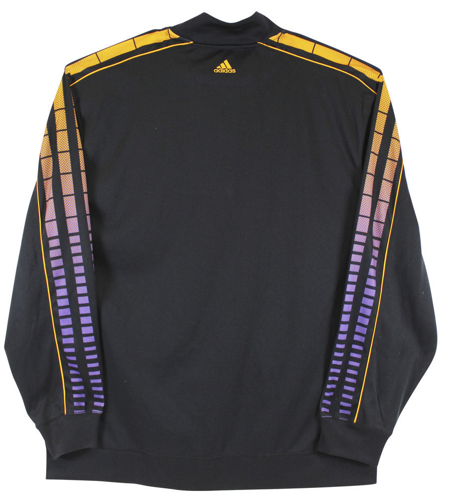 Magic Johnson Autographed Signed Lakers Black Adidas Warmup Jacket Size Xxl Beckett Wit #Mj17338 Image a