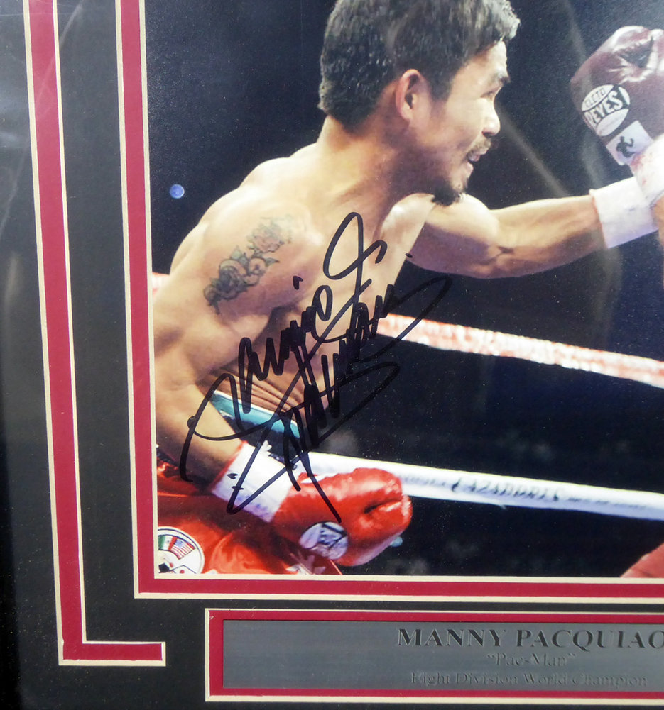 13663d8b52f15 Manny Pacquiao Autographed Signed Framed 8x10 Photo Pacman - PSA/DNA ...