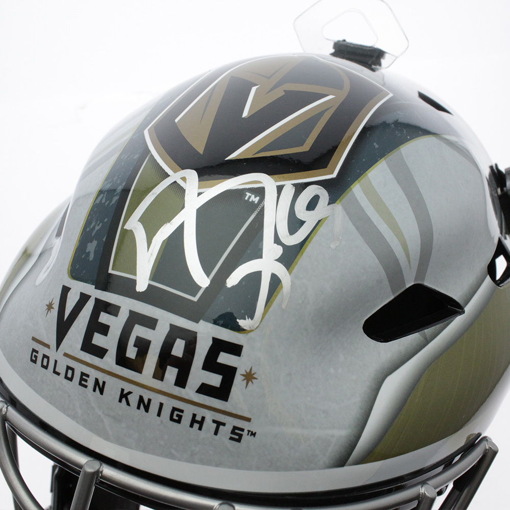 Marc Andre-Fleury Vegas Golden Knights Autographed Signed Goalie Helmet Mask - JSA Authentic Image a
