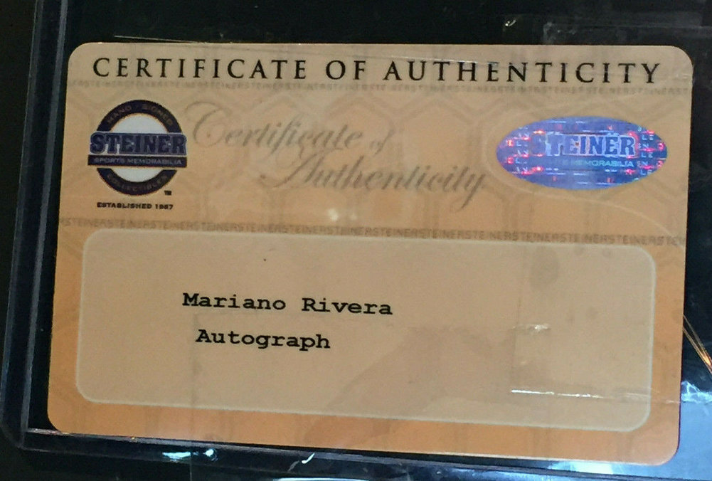 Mariano Rivera Autographed Signed Game Used Yankee Stadium Seatback Framed Auto Steiner Image a