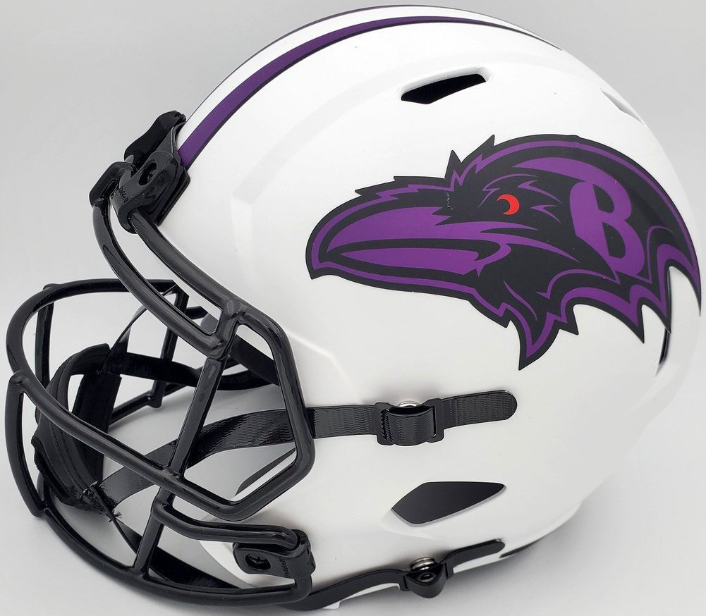 Mark Andrews Autographed Signed Baltimore Ravens Lunar Eclipse White Full Size Speed Helmet Beckett BAS Image a