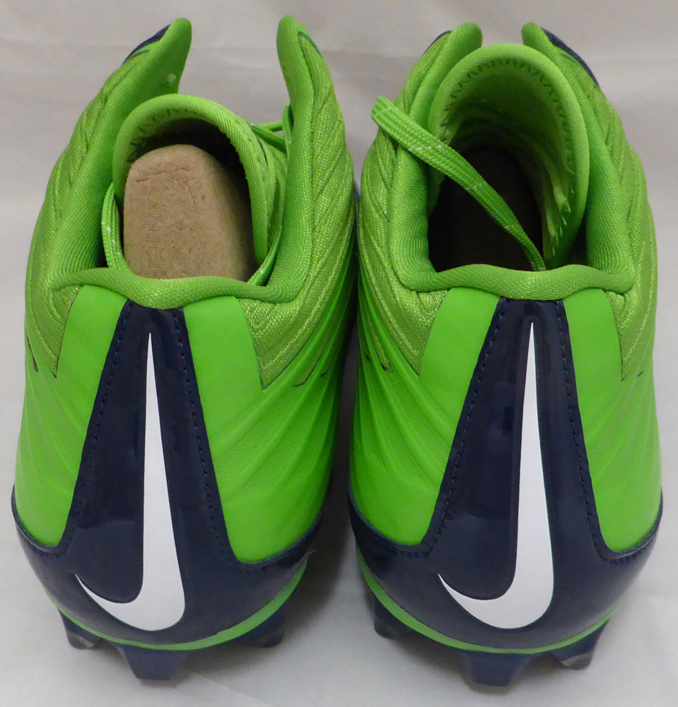 Marshawn Lynch Autographed Signed Nike Cleats Shoes Seattle Seahawks ML Holo Stock #131210 - Certified Authentic Image a