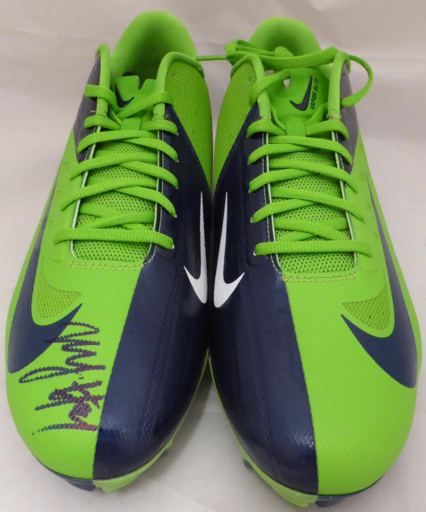 Marshawn Lynch Autographed Signed Nike Cleats Shoes Seattle Seahawks ML Holo Stock #131211 - Certified Authentic Image a