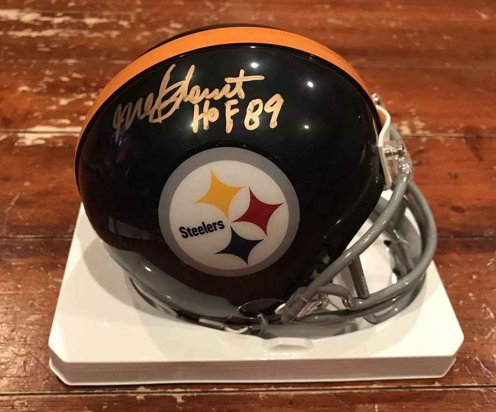 68401f4e9 Mel Blount Autographed Signed Pittsburgh Steelers Throwback Mini Helmet HOF  89 Memorabilia - JSA Authentic. Loading Images...  441.99 Price