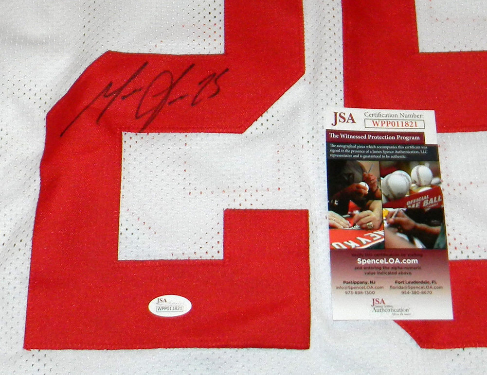 online retailer 05117 1b4c5 Melvin Gordon Autographed Signed Wisconsin Badgers #25 White ...