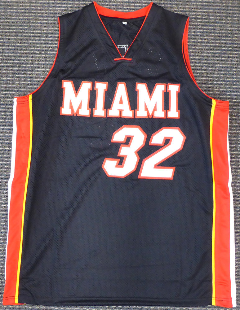 Miami Heat Shaquille O'Neal Autographed Signed Black Jersey On 2 Beckett BAS Image a