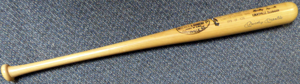 Mickey Mantle Autographed Signed Louisville Slugger Bat New York Yankees - PSA/DNA Certified Image a