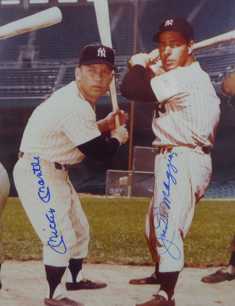 Mickey Mantle Joe Dimaggio Amp Ted Williams Autographed