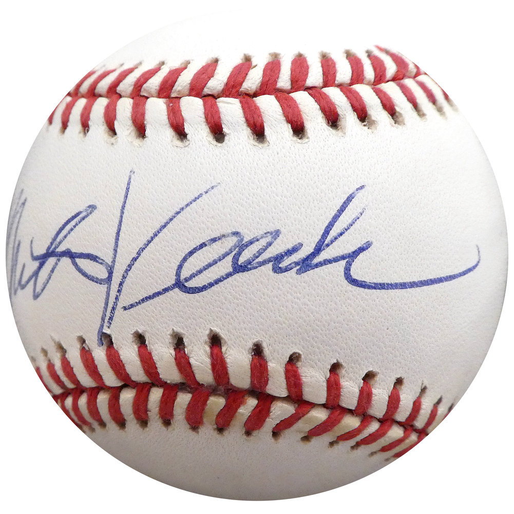 Mike Veeck Autographed Signed Official AL Baseball Son Of Bill Veeck Beckett BAS Q01410 Image a