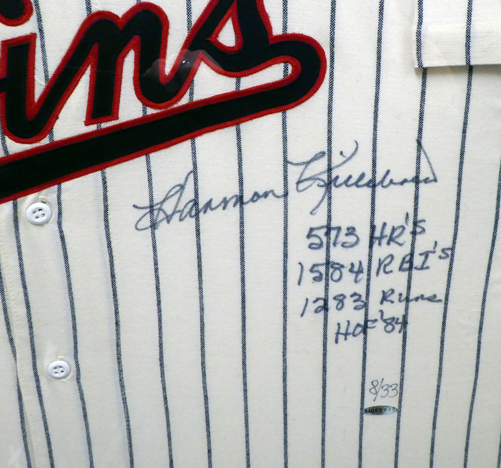 28c5013991a ... Minnesota Twins Harmon Killebrew Autographed Signed Framed Mitchell & Ness  Jersey 573 HR's, 1584 RBI