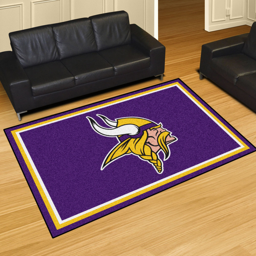 outlet store 09b07 9335f Minnesota Vikings 5' x 8' ft Decor Area Rug - Minnesota ...