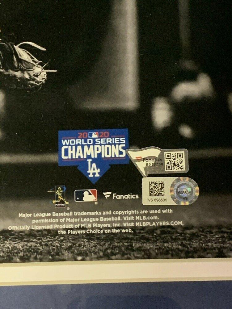 Mookie Betts Autographed Signed Dodgers 2020 Ws 11X14 Spotlight Photo Framed Auto Fanatics Image a