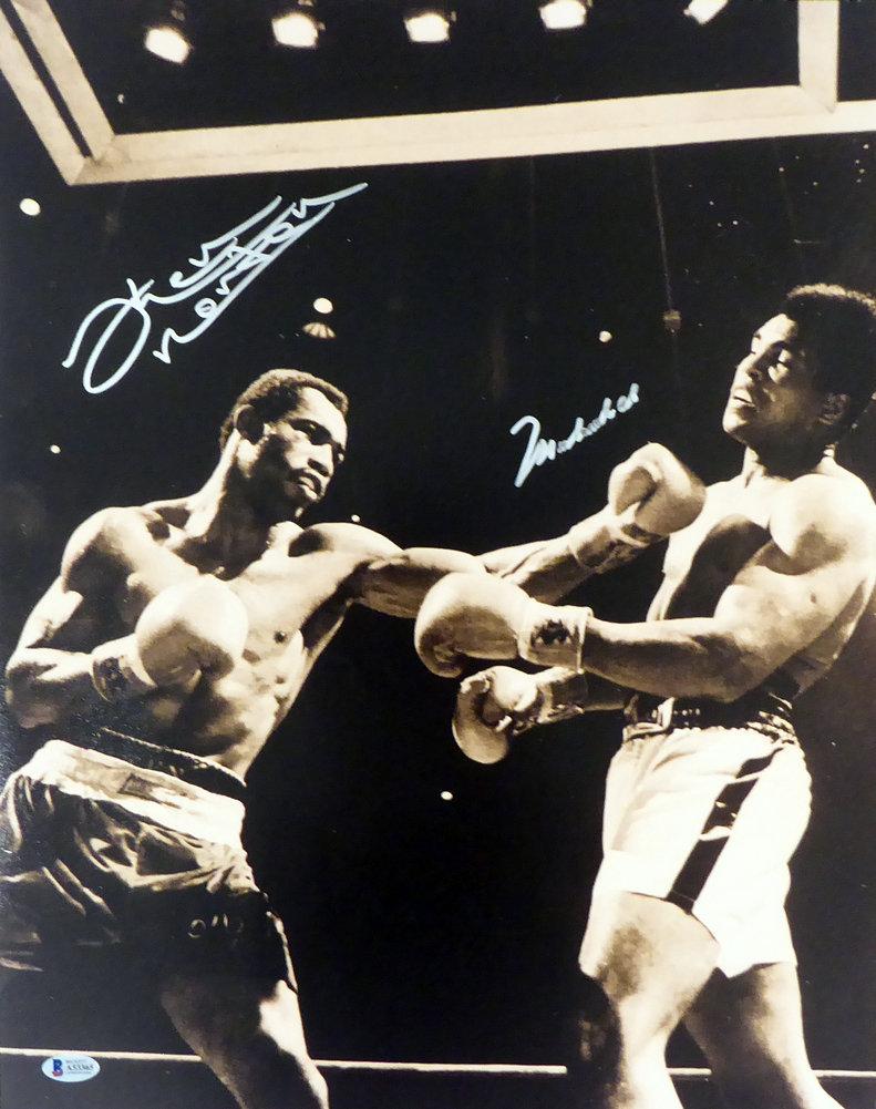 Muhammad Ali & Ken Norton Autographed Signed Framed 16x20 Photo Beckett BAS #A53365 Image a