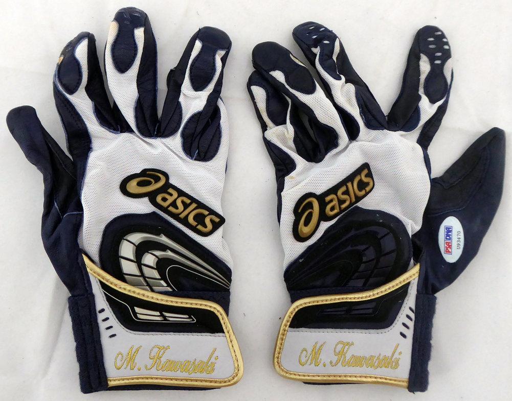 Munenori Kawasaki Autographed Signed Game Used Asics Batting Gloves 2013 Game Used Toronto Blue Jays PSA/DNA U93470 Image a