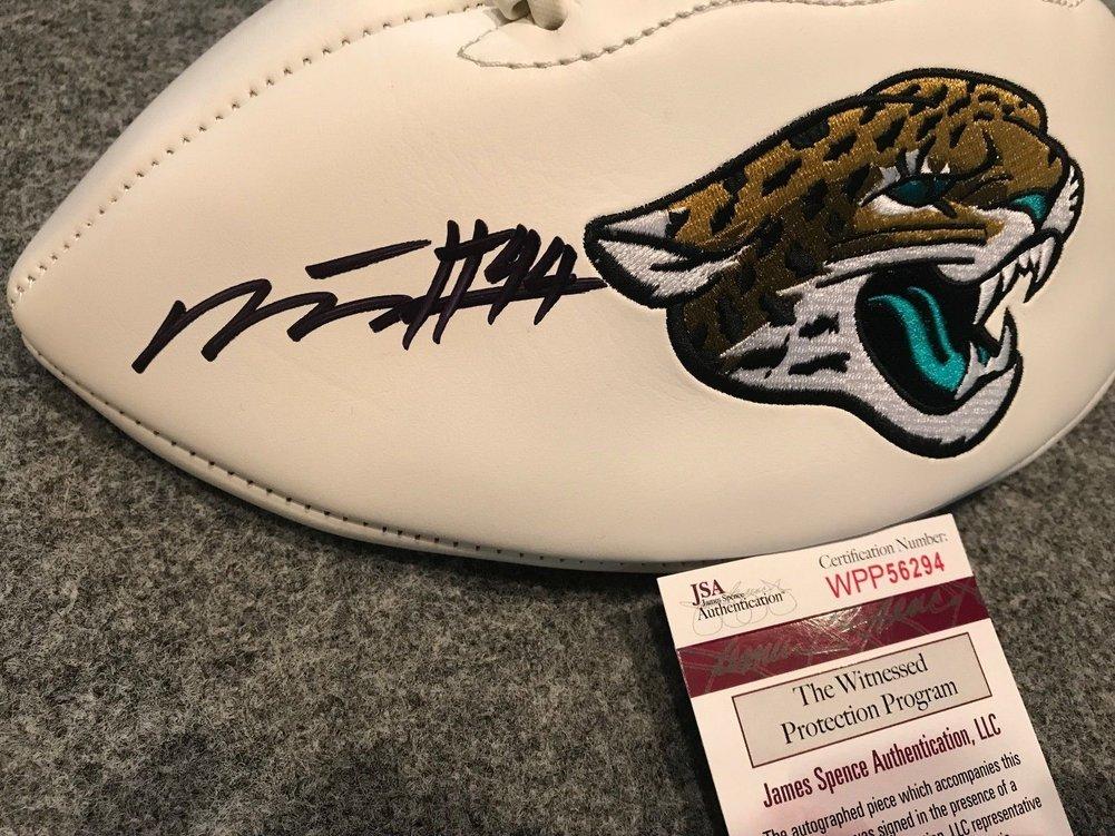 Myles Jack Autographed Signed Signed Jacksonville Jaguars Logo Football JSA COA Image a