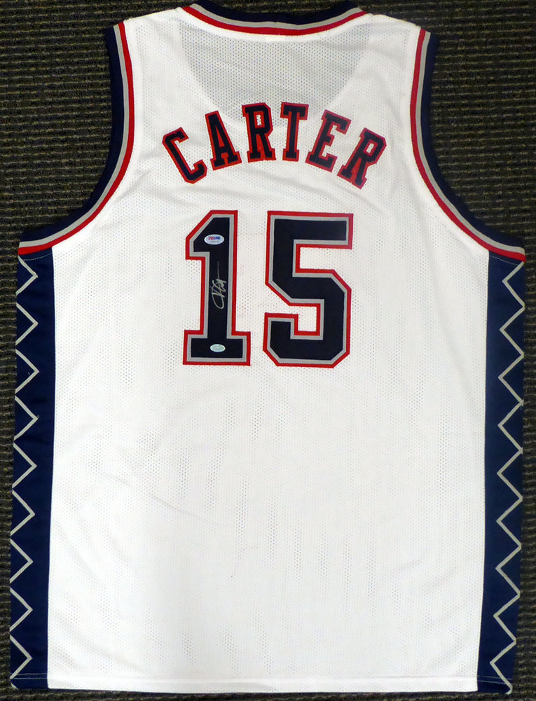 new arrival 548a1 ff1da New Jersey Nets Vince Carter Autographed Signed White Jersey ...