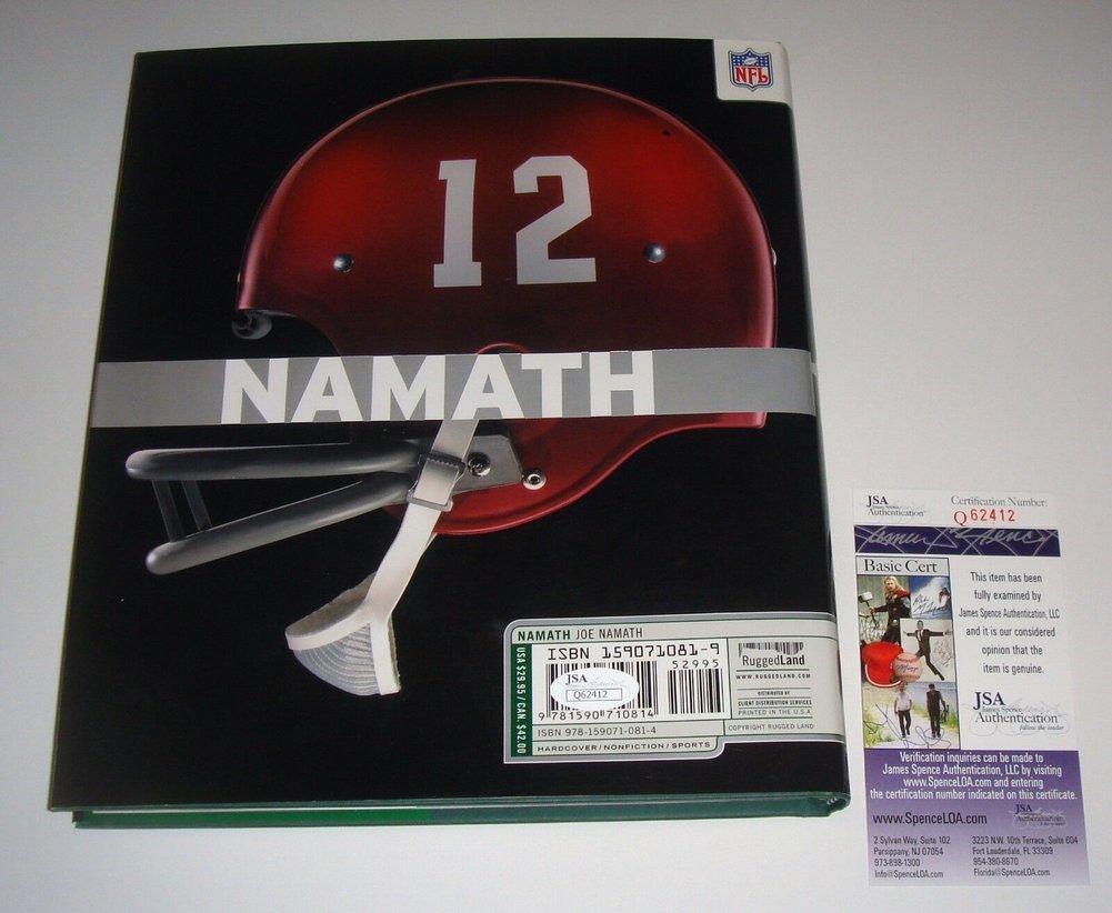 0f351c8339a New York Jets HOF Joe Namath Autographed Signed Namath Hard Cover ...