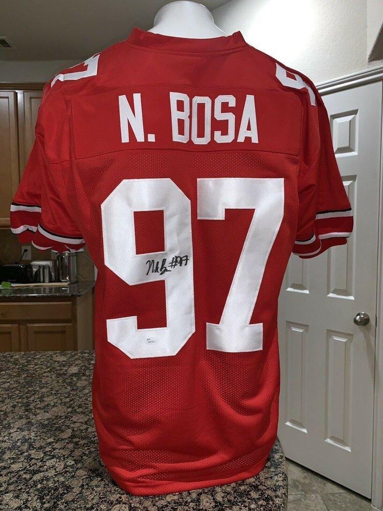 Nick Bosa Ohio State Buckeyes Autographed Signed Ncaa Red